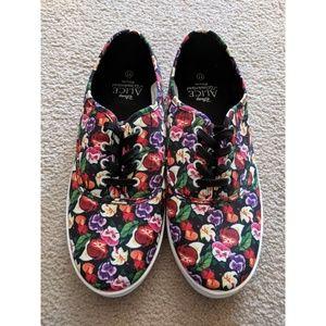 Alice in Wonderland Floral Shoes Size 11